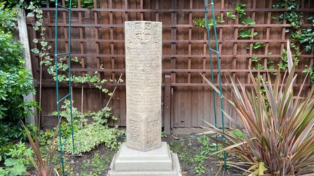 Ian Alexander-Sinclair's family monument now back in Norwich
