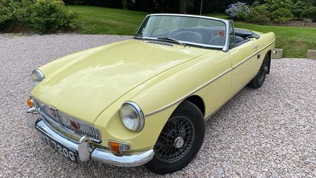 The52-year-old pale yellow MGB Roadster I have just bought online