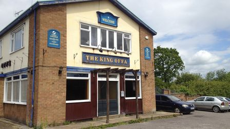 The former King Offa pub in St Albans - the site will now be used for social housing.