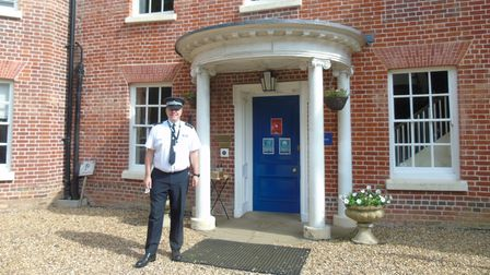Chief Inspector Keith Philpot outside the front entrance of the new training complex in Hethersett