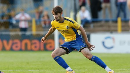 Alkeo Bani of St Albans City during the pre-season friendly with Stevenage at Clarence Park