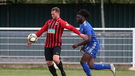 Gavin Cockman put Saffron Walden Town on their way to a 7-0 win over Biggleswade United in the FA Cup