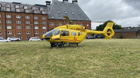 The East Anglian air ambulance attended a medical incident in Ipswich