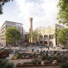 A CGI image shows what the Broadwood Piano Works development in Hackney Wick will look like.