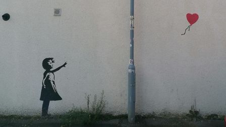 A re-creation of Banksy's Girl with Balloon has appeared inKenyon Street, Ipswich