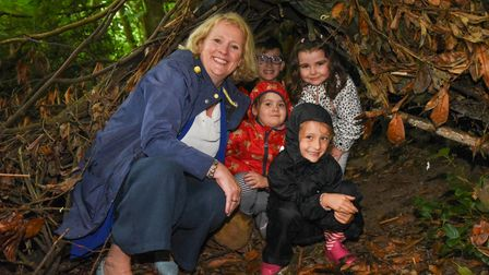 Children's Minister Vicky Ford with some of the children at St William's Primary School's summer hol