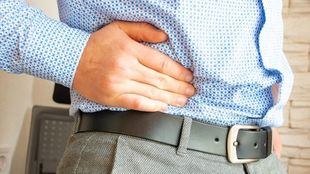 Man with hernia at Exeter Vascular Services in Exeter
