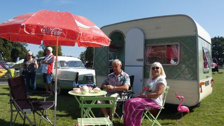 Guests enjoyiing the 2019 Swaffham Classic Car Show