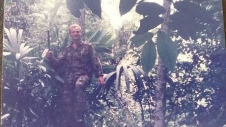 Former Royal Marines commando Terry Barnes has written a book about his life
