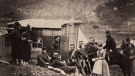 Roger Fenton is the camp of the 4th Dragoons and Mrs. Rogers