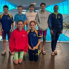 Romford Town youngsters at the London Festival of Swimming