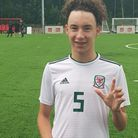 Former Levels FC youngster Reece Bellis in his Wales kit