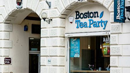 TheBoston Tea Party cafe in Exeter.
