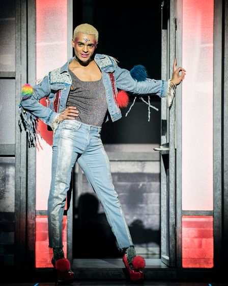 Layton Williams, in Everybody's Talking About Jamie, the story of Jamie, a young man finding his place in the world