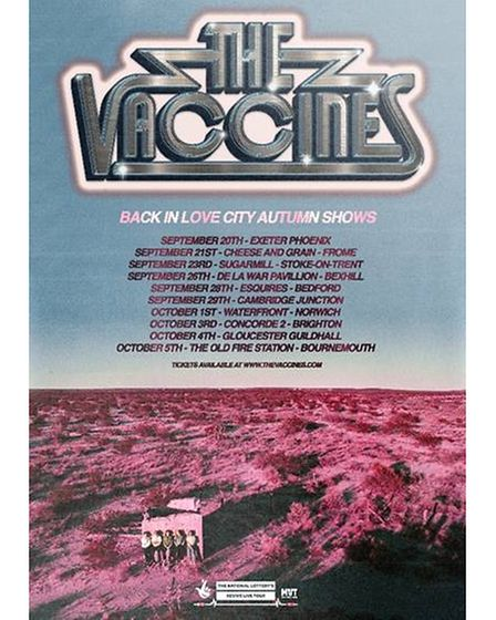 The Vaccines will play Cambridge Junction on September 29 as part of The National Lottery's Revive Live Tour.