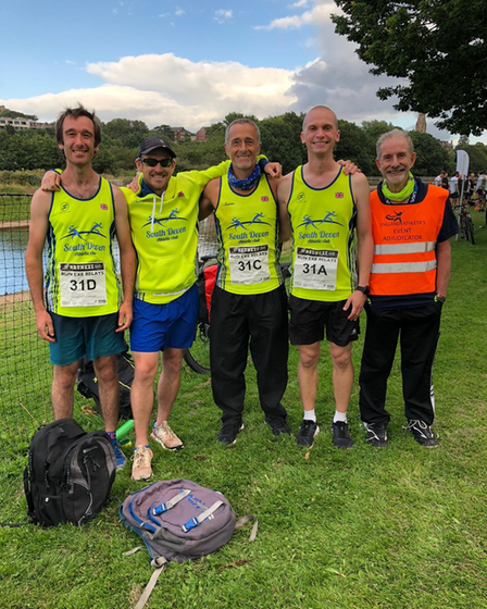 Jon Hiscoke, Liam Lindon,Colin Peters andHarry Harrison took part in theRun Exe Relays.