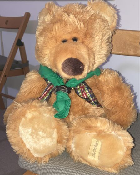 DC bear - which Joyce Goodall was given when she became district commissioner