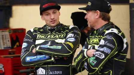 Craig Cook and Jason Crump pictured ahead of the meeting.