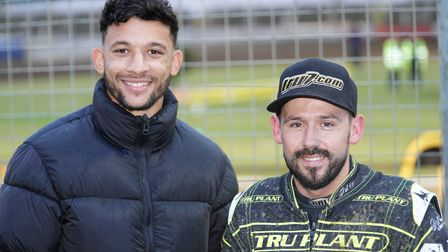 Town star Macauley Bonne pictured with Witches skipper Danny King.
