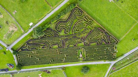 An aerial view of the maze.