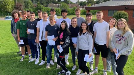 Verulam students collect their A Level results.