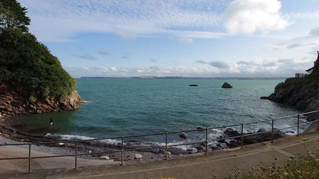 Looking out from Beacon Cove, Torquay.