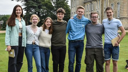 Kimbolton students celebrate their A Level results success.