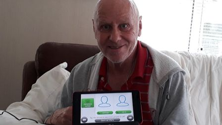 Austin Reddy, one of the residents in East Suffolk who has received a Grandpad.