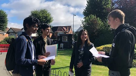 Preston Manor pupils get their A Level results 2021