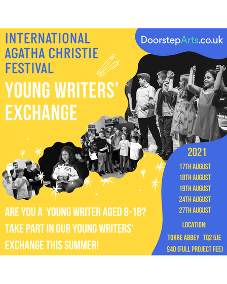 The Young Writers' Exchange is in partnership with the International Agatha Christie Festival.