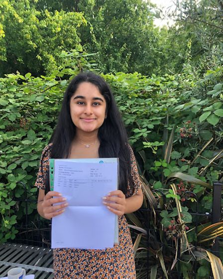 Nandini Chavda earned four A* in the sciences
