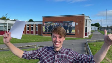 Owen Channon who gained fourA* grades in business, maths, further maths and physics.