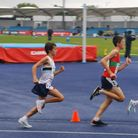 Ilford's Joseph Grange (left) in action at the England U15 Championships in Manchester