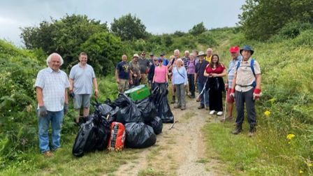 Many people, including local councillors and Torbay Coast and Countryside Trust trustees turned out to help tidy up .