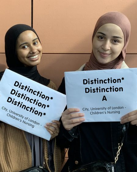 Students Lamia O and Sarah M were awarded distinctions.
