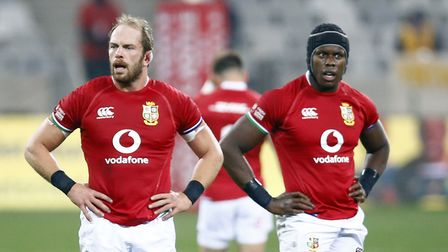 British and Irish Lions' Alun Wyn Jones and Maro Itoje during the Third Test match at the Cape Town Stadium