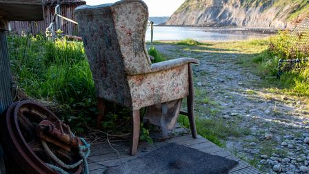 Armchair with a view of the beach