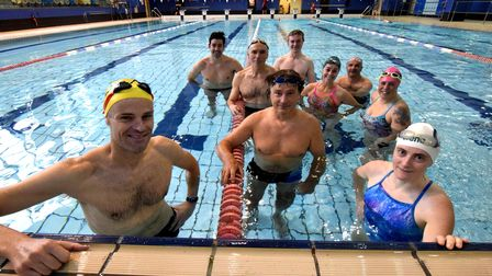 Camden Swiss Cottage Swimming Clubmasters' members in the pool