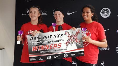 St Albans Wolves basketball team were the winners of the U14 Ball Out 3x3tournament at the University of Essex
