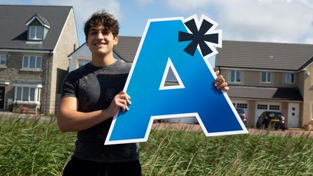 Michael Papantoniou on a-level results day.