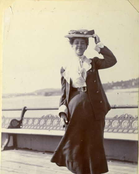 Agatha Christie on the pier in Torquay