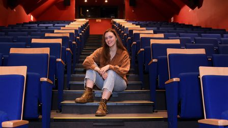 Actor Megan Artherton, 24, in the auditorium at the Sheringham Little Theatre. Megan has been offere