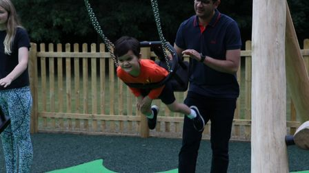 The new play area at Rothamsted Park in Harpenden.