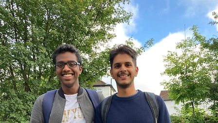 Jayshiv Patel is off to Imperial after achieving four,A*s and Jonathan Pereira is off to Cambridge with his triple A*s