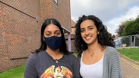 Abishini Kirubananthan and Tia Chauhan are off to uni with their top grades in their pocket