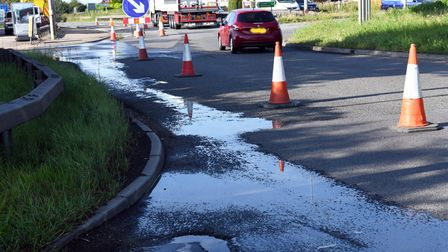A section of the A1 at Buckden has been closed while the damage is assessed.
