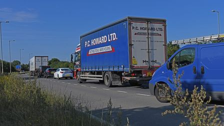 There are long tailbacks on the A1 around Buckden.