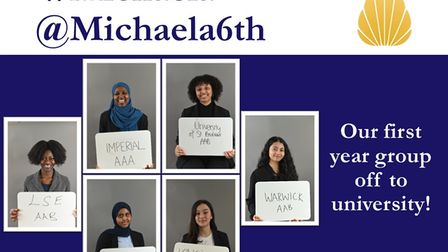 Michaela Community School's first cohort of A Level students are off to University with top grades