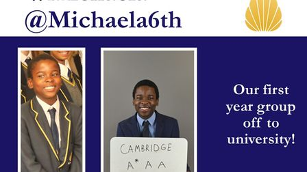 Jermaine started at Michaela Community School has made it to Cambridge and beyond
