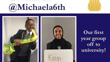 Zuhaila, who started Michaela Community School in year 7,is off to Kings with her A* and two As